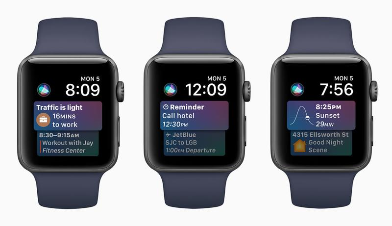 watchOS 4 Siri Watch Faces